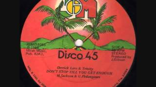 Download Derrick Laro & Trinity- Don't Stop Til You Get Enough -1980- (Reggae) MP3 song and Music Video