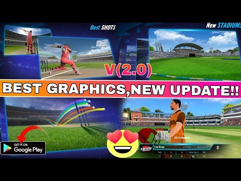 CRICKET LEAGUE : GCL | NEW UPDATE V2.0 | OOOSEM! GRAPHICS AND BIGGEST UPDATE REVIEW VIDEO!