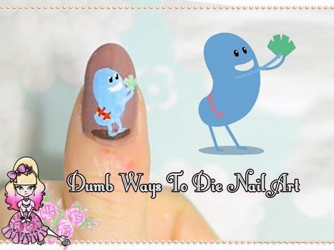 Dumb Ways To Die Nail Art Tutorial - Violet LeBeaux