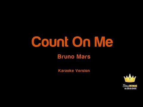 Bruno Mars - Count On Me Karaoke (lower)