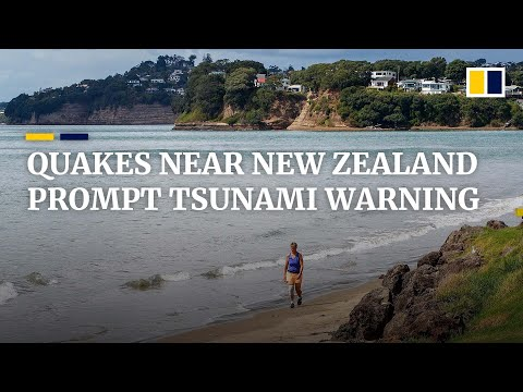 Earthquakes near New Zealand prompt tsunami warning and evacuations lasting several hours