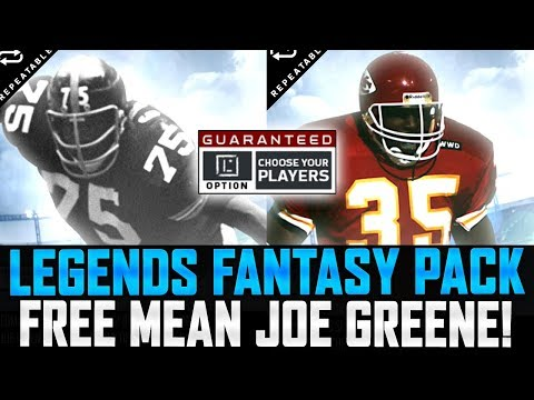 MEAN JOE GREENE & CHRISTIAN OKOYE! | LEGEND FANTASY PACKS! | MUT 18