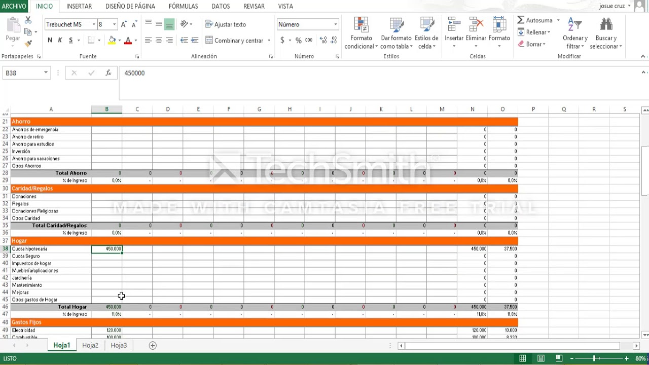 Tutoriaal Plantilla Ingresos y Gastos en Excel - YouTube