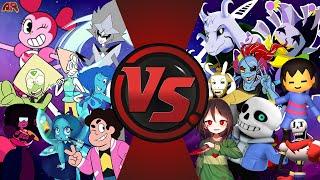 STEVEN UNIVERSE vs UNDERTALE TOTAL WAR! CARTOON FIGHT CLUB