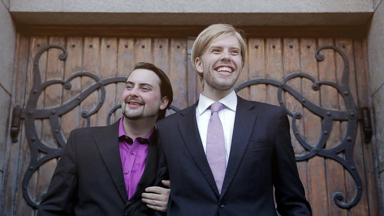 Men playing gay chicken