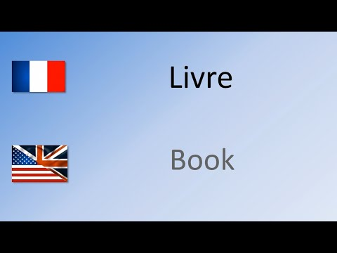 How to say / pronounce Book in French - Livre