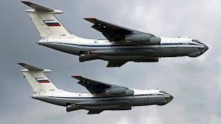 Мигалово. Взлет группы ВТА: Ан-124, Ил-76, Ан-22.