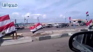بالفيديو: اعلام مصر تنتشار بطول كورنيش الاسكندرية أثناء مباراة مصر وغانا