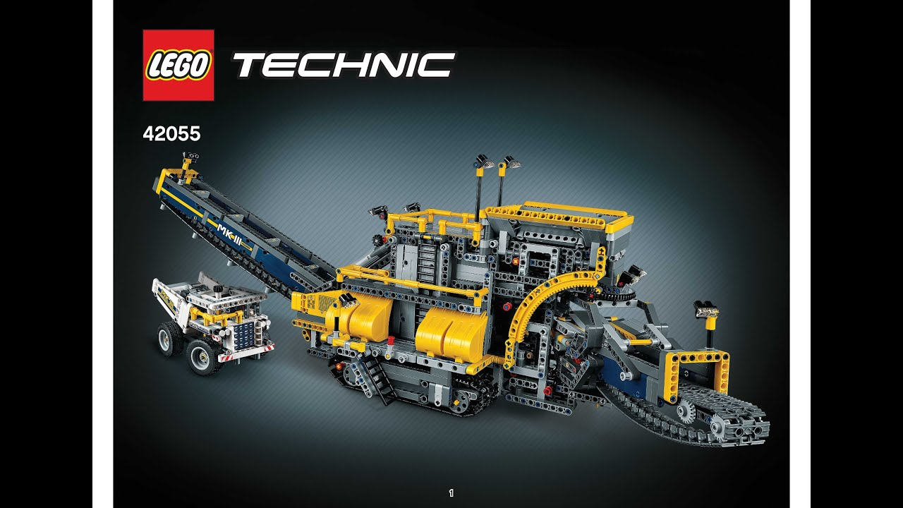 Lego Technic Schiffsschraube: LEGO 42055 Mobile Aggregat Plant Instructions B Model LEGO