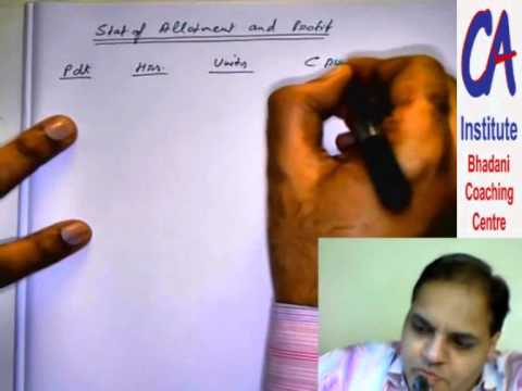 "CA Final Costing (AMA) ""Make or Buy"" @ CA Institute--Bhadani Coaching Centre"