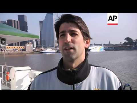 Greenpeace blocks port to protest Shell oil company drilling in Arctic