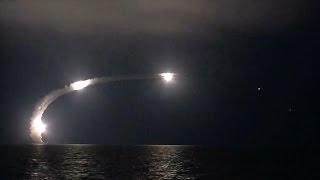 Массированный удар высокоточным оружием по объектам ИГИЛ в Сирии из акватории Каспийского моря