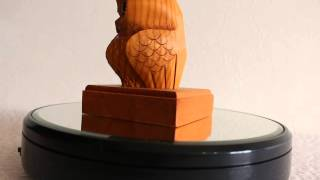 Ichii Ittobori Lucky Bird Owl Wood Carving Hannya Netsuke Hida Takayama Japan