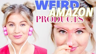 TESTING CRAZY WEIRD AMAZON BEAUTY PRODUCTS | Milabu