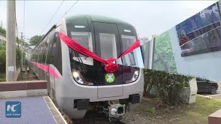 New high-tech metro train rolls off assembly line in NE China