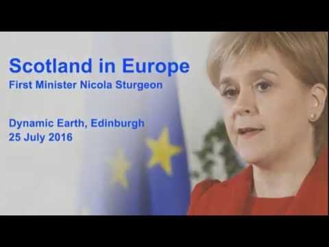 Scotland in Europe - Nicola Sturgeon 25-07-2016