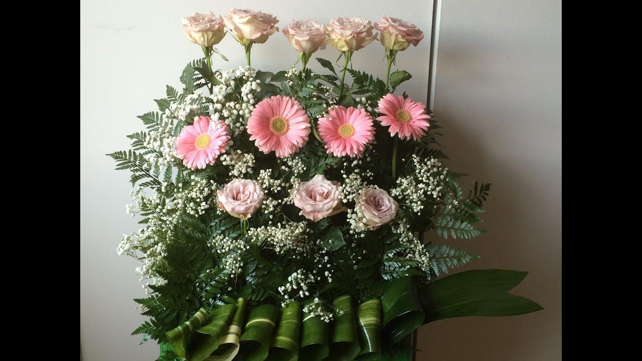 Pie altar bodas todo flores para bodas 5 youtube - Arreglos de flores para bodas ...
