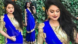 Wedding Guest MAKEUP LOOK | DIWALI 2017 MAKEUP & HAIRSTYLE IN HINDI | Indian Festive Makeup Tutorial