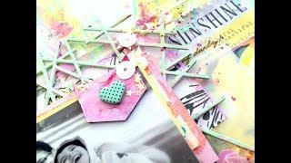 Gel Press Scrapbook Background using Colourarte Paints with Kripa Koushik