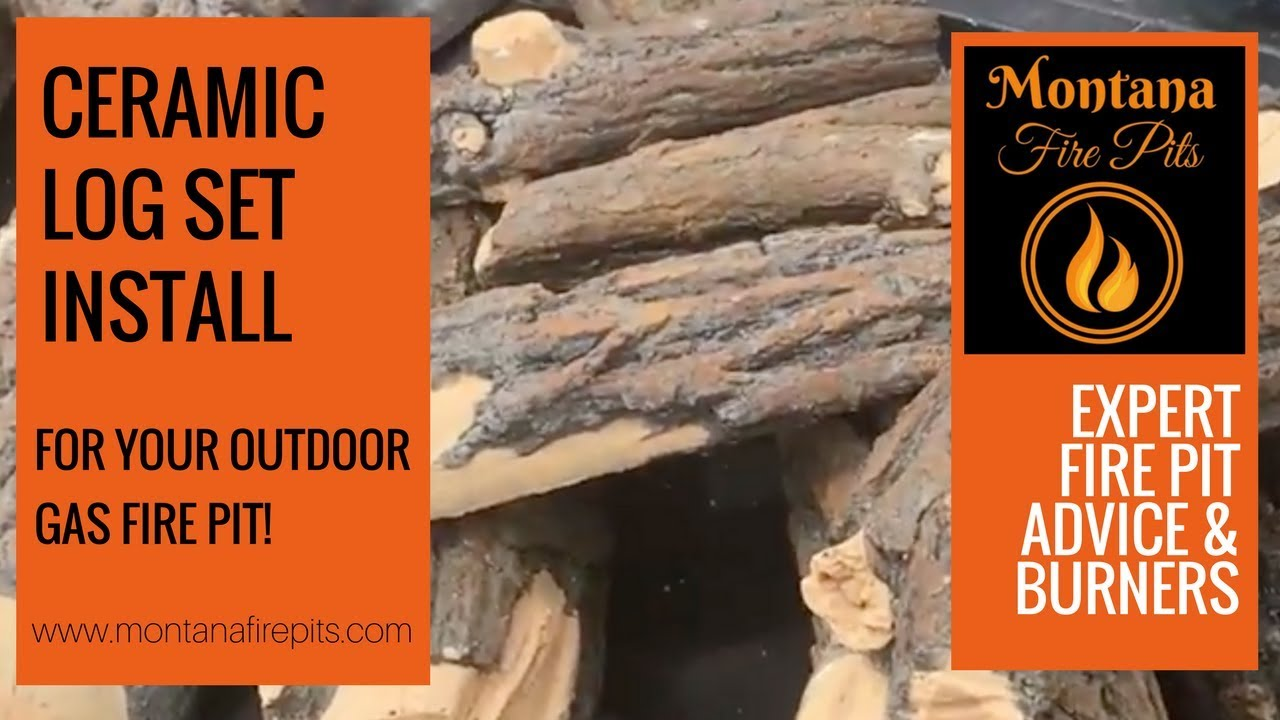 Ceramic logs for your outdoor gas fire pit - YouTube
