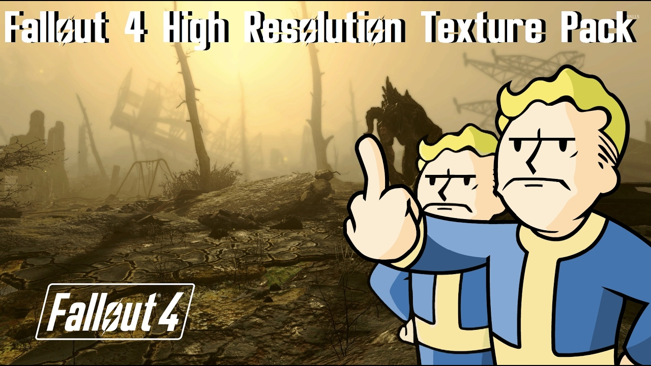 how to use the fallout 4 high resolution texture pack