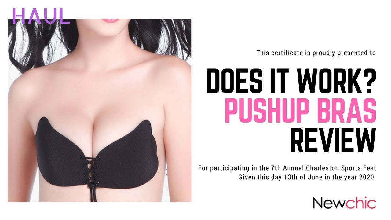 6403a676f3 DOES IT WORK    Instagram PUSH UP Magic Bra lingerie
