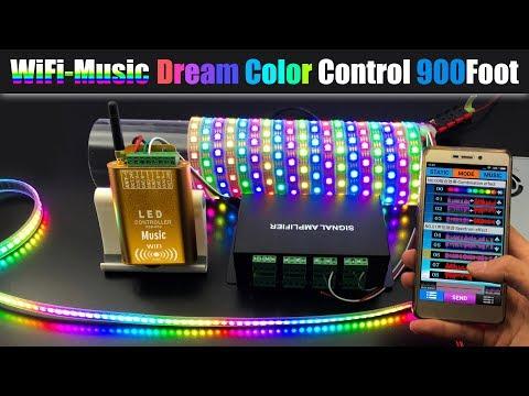 LED Streifen Stripe //Panel Bluetooth Controller CSY07 Musik Infrarot Dream Color