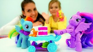 Подарок для #ЛитлПони Искорки! 🛀 Вечеринка в СПА Салоне! Видео игры #длядевочек Маленький Пони