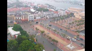 Torrencial aguacero inundó varios sectores de Cartagena