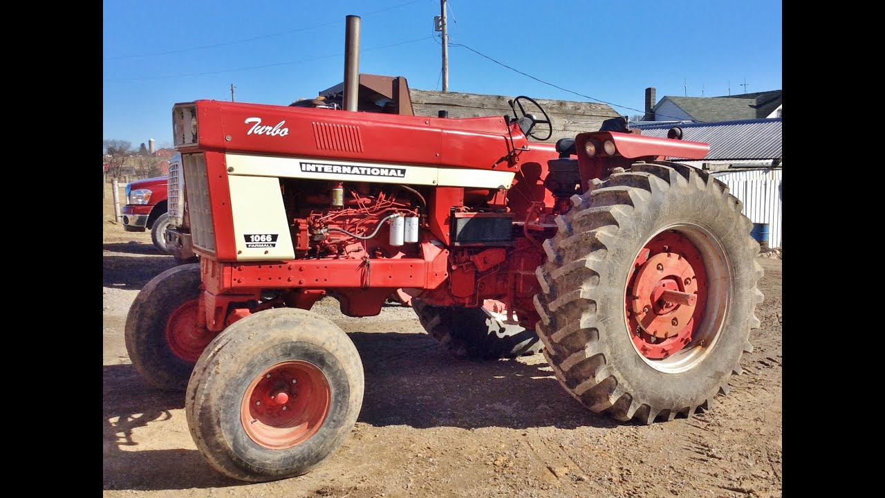 Farmall 1066 Tractor : International farmall tractor for sale youtube