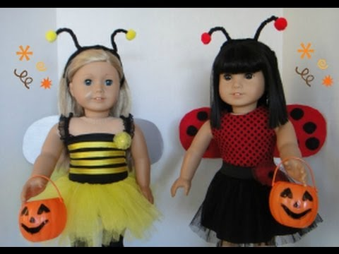 Halloween Costume for my American Girl Dolls - YouTube