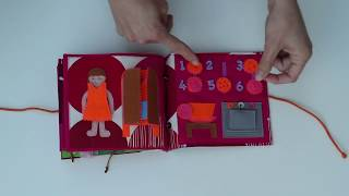 """""""The girls' book"""" quiet book, busy book, handmade activity book for girls aged 3-5"""