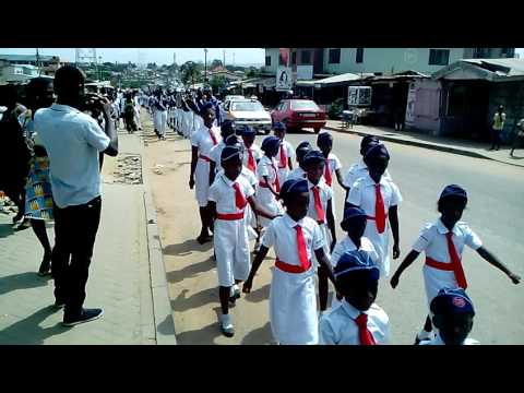 Accra West District Brigade Central Band @ Macedonia enrollment march pass