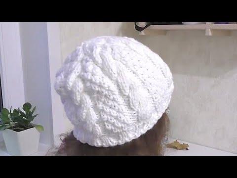 Шапка с косами вяжем