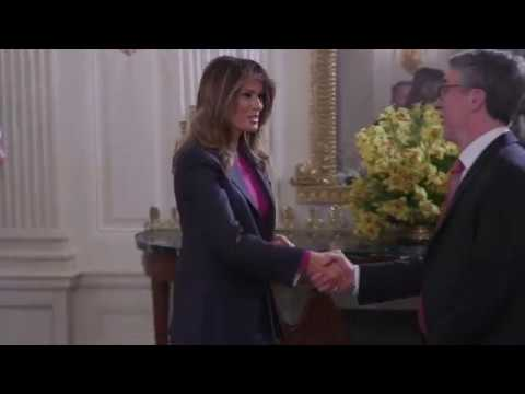 First Lady Melania Trump Hosts Roundtable with Technology Leaders