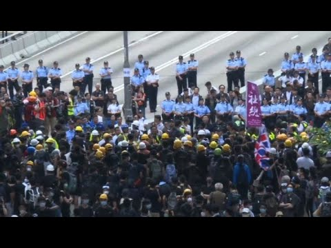 AFP news agency: Morning protest after massive Hong Kong rally | AFP