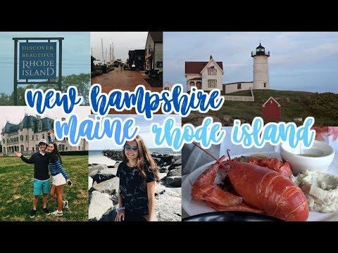 RHODE ISLAND, MAINE, + NEW HAMPSHIRE TRAVEL VLOG!