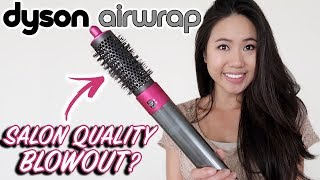 Salon Blowout At Home With The Dyson Airwrap Round Volumizing Brush | Review & Tutorial