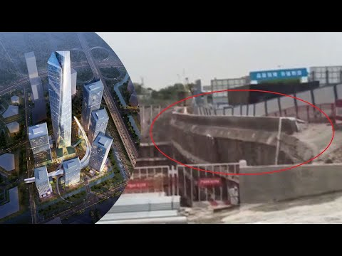 Collapse at billion dollar site in Shenzhen caught on video; Garage roof collapses - Compilation