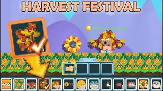 Getting FALL WINGS + UNITY MOONCAKE (ALL NEW ITEMS)   Harvest Festival 2021   Growtopia