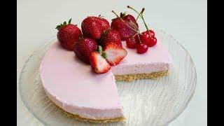 Творожный торт без выпечки рецепт с фото
