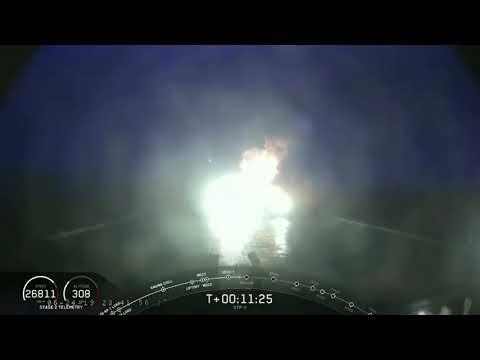 Неудачная посадка центрального блока Falcon Heavy на плавучую платформу (миссия STP-2)