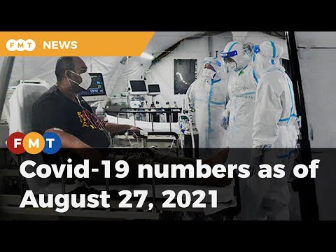 Covid-19 numbers as of August 27, 2021