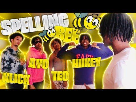SPELLING BEE CHALLENGE! FT AYO AND TEO, HIIIKEY, & KLICK