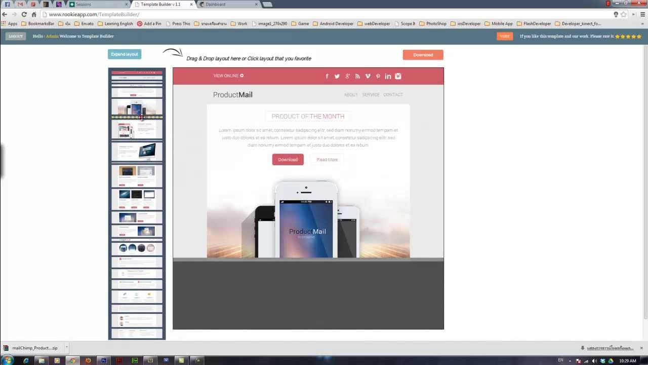 Productmail Responsive E Mail Template Test On Mailchimp