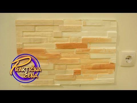 Praktična žena - Kako osvežiti stare zidove imitacijom kamena – Srđan Predojević