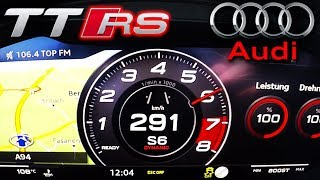 0-290km/h   Audi TT RS   TOP SPEED, Acceleration TEST✔