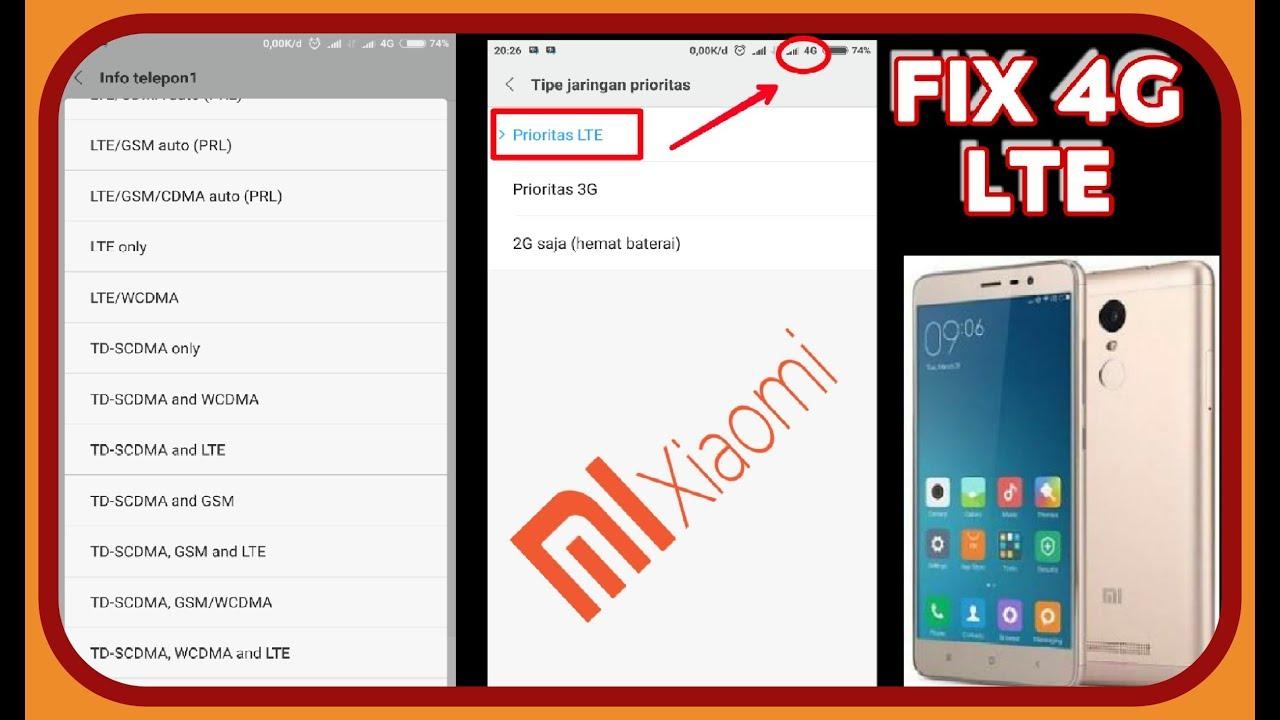 Cara Fix 4g Lte Miui 9 Redmi Note 3 Pro Youtube