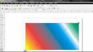 Cara membuat warna Gradasi di Corel Draw X