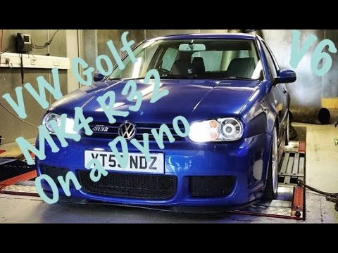 Stock MK4 R32 With Silencers Removed On Dyno! Eargasm!! VW Golf